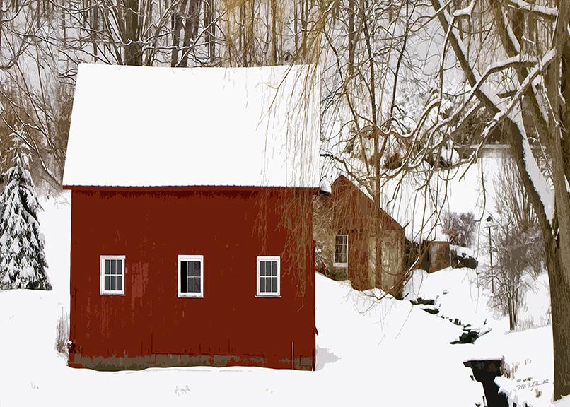Snowfall on the Farm
