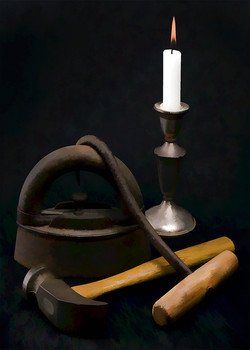 Tools and Candle