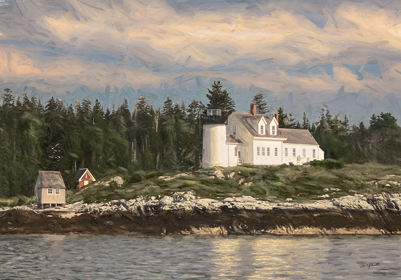 Light House on Pumpkin Island