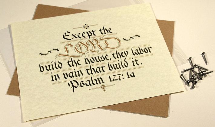 Psalm 127:1a