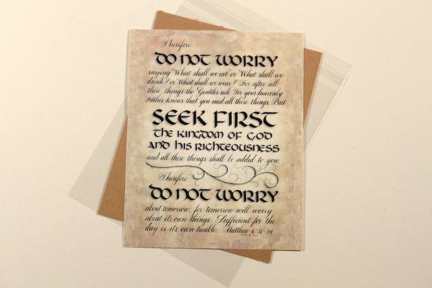 Matthew 6:31-34