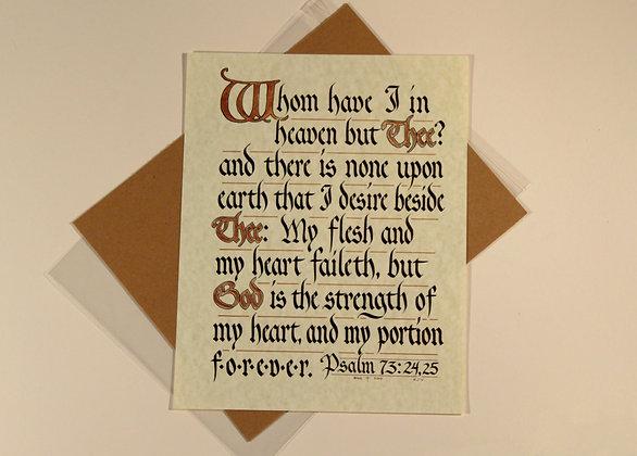 Psalm 73:24-25