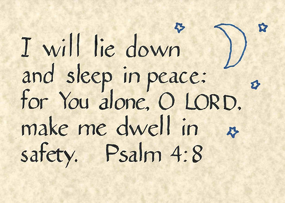 Psalm 4:8 (Downloadable)