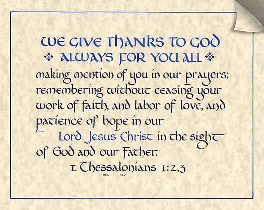 1Thessalonians 1:2,3