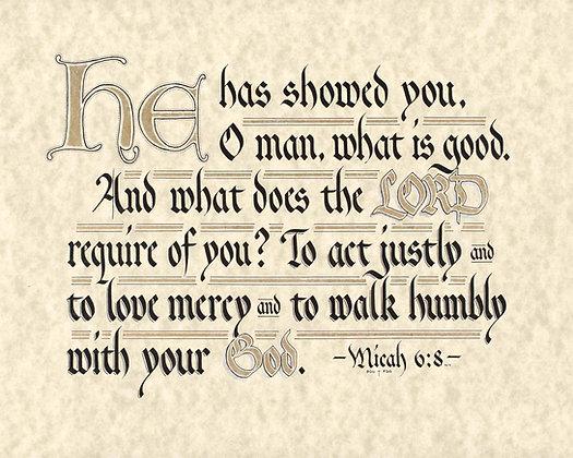 Micah 6-8 (Downloadable)