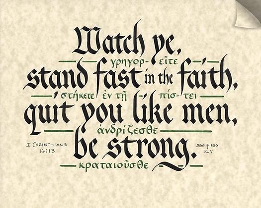 1 Corinthians 16:13 (Downloadable)