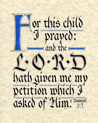 I Samuel 1:27