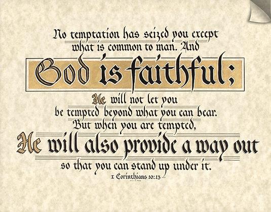 1 Corinthians 10:13 (Downloadable)
