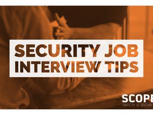 Security Job Interview Tips