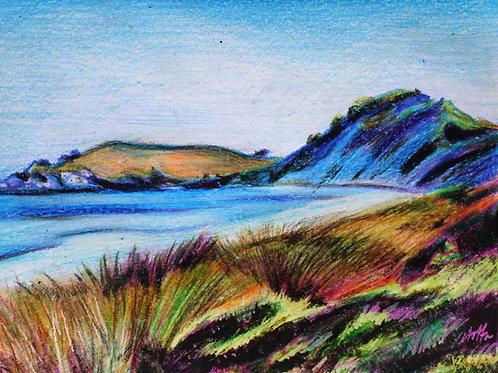 Rottnest Island, Original Crayola Crayon, Vintage Frame A4
