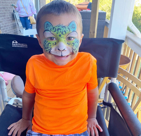 Boy Face Painting Tiger