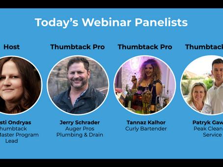 Thumbtack Panel Webinar - Navigating COVID19