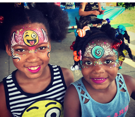 Two Girls Face Painting