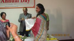 Honoring Group leader -Tanuja Talele