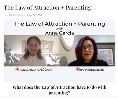 Anna talks with Stacey Yates Sellar about parenting and the law of attraction