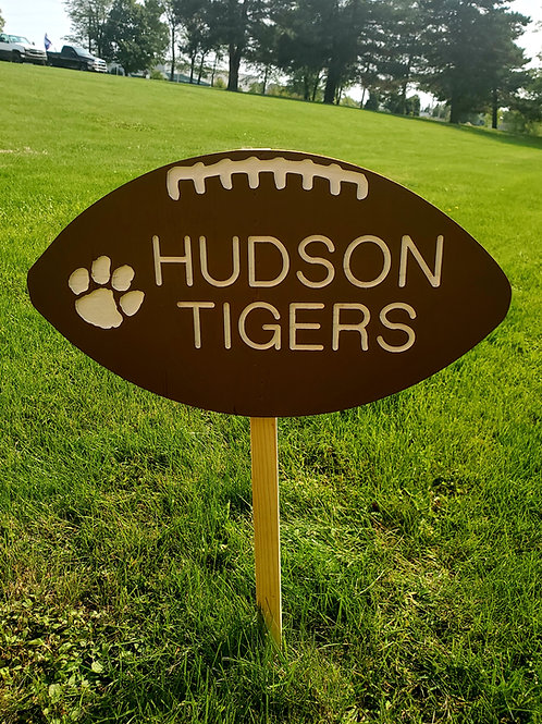 Hudson Football Yard Sign-Painted