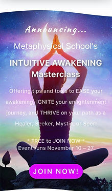 Join the Intuitive Awakening Masterclass Nov 2020