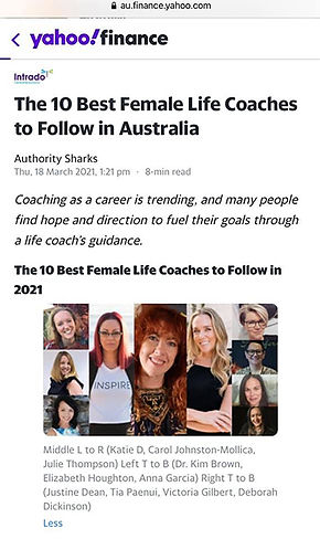 Anna Garcia is one of the 10 best female life coaches to follow in Australia