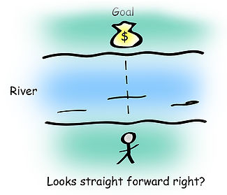 When you have a goal, your logic tells you to reach for it, but beliefs can be a challenge. Illustration by Anna Garcia.