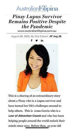 Anna Garcia in Australian Filipina