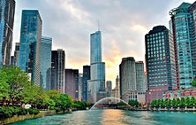 chicago-river-view-at-sunset-frozen-in-t