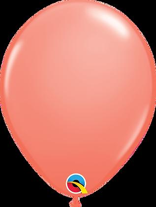 Coral Qualatex Balloons