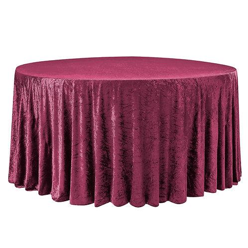 """120"""" Round Velvet Table Linen-Multiple Colors"""