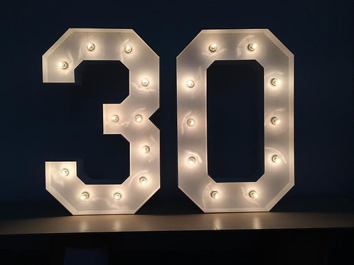 "#30 Marquee Set (50"" Tall)"