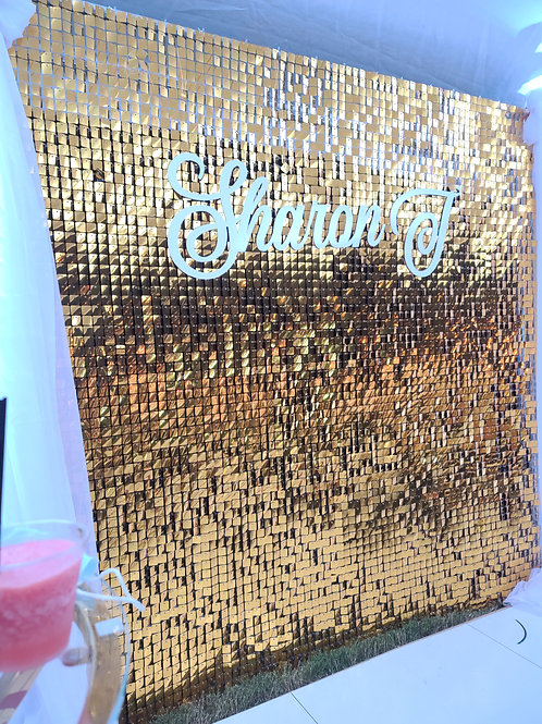 Sequin Shimmer Wall