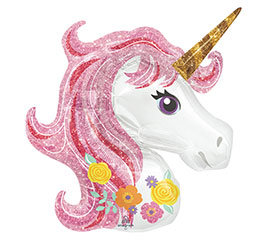 Pink Mane Unicorn Head Balloon
