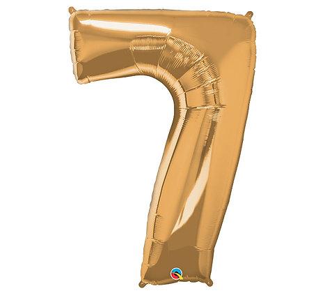 Number 7 Mylar Balloon