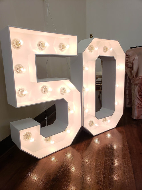 """#50 Marquee Set (30"""" Tall)"""