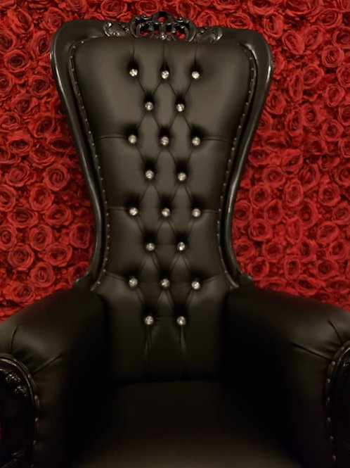 Black Throne Chair Rental