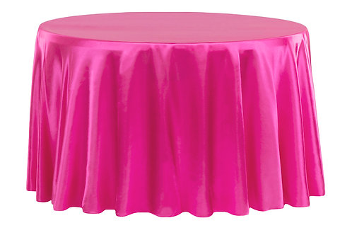"""120"""" Round Satin Table Linen-Multiple Colors"""
