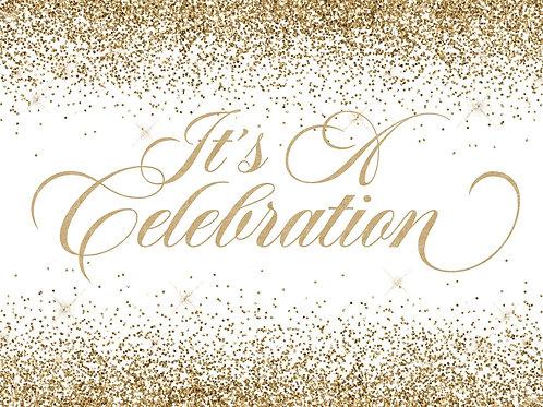 It's A Celebration! Gold/White