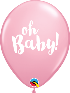 Oh Baby Print Qualatex Balloons