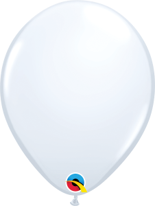 White Qualatex Balloons