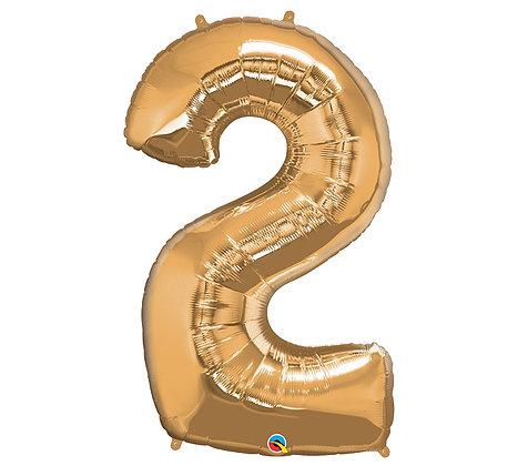 Number 2 Mylar Balloon