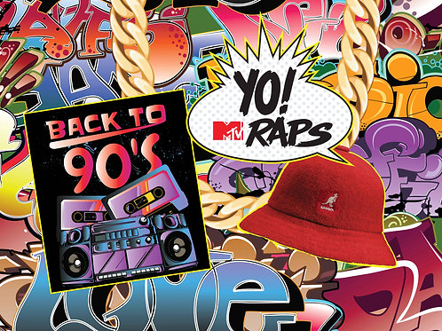 90s Yo MTV Raps Backdrop