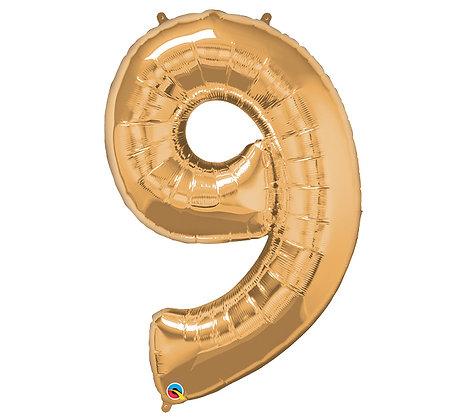 Number 9 Mylar Balloon