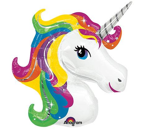 Rainbow Unicorn Head Balloon