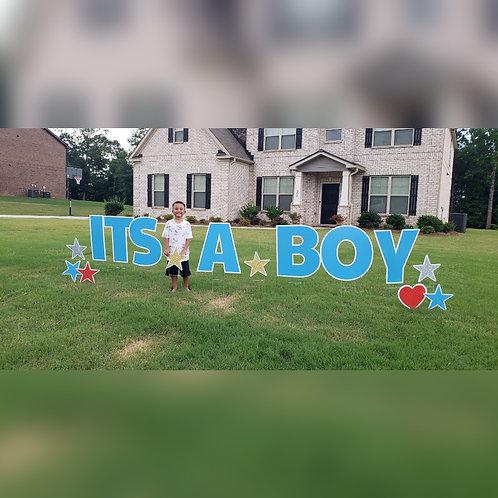 It's A Boy Yard Greeting Rental