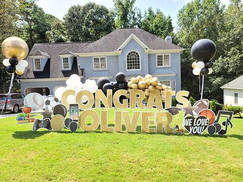 Congratulations Yard Greeting Rental