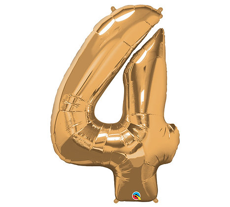 Number 4 Mylar Balloon