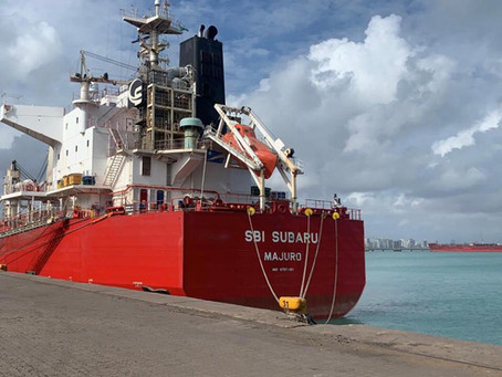 Embarque recorde de clínquer a granel é alcançado pelo Porto de Fortaleza