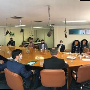 Comitiva da Embaixada da Argentina se reúne com a presidente da CDC