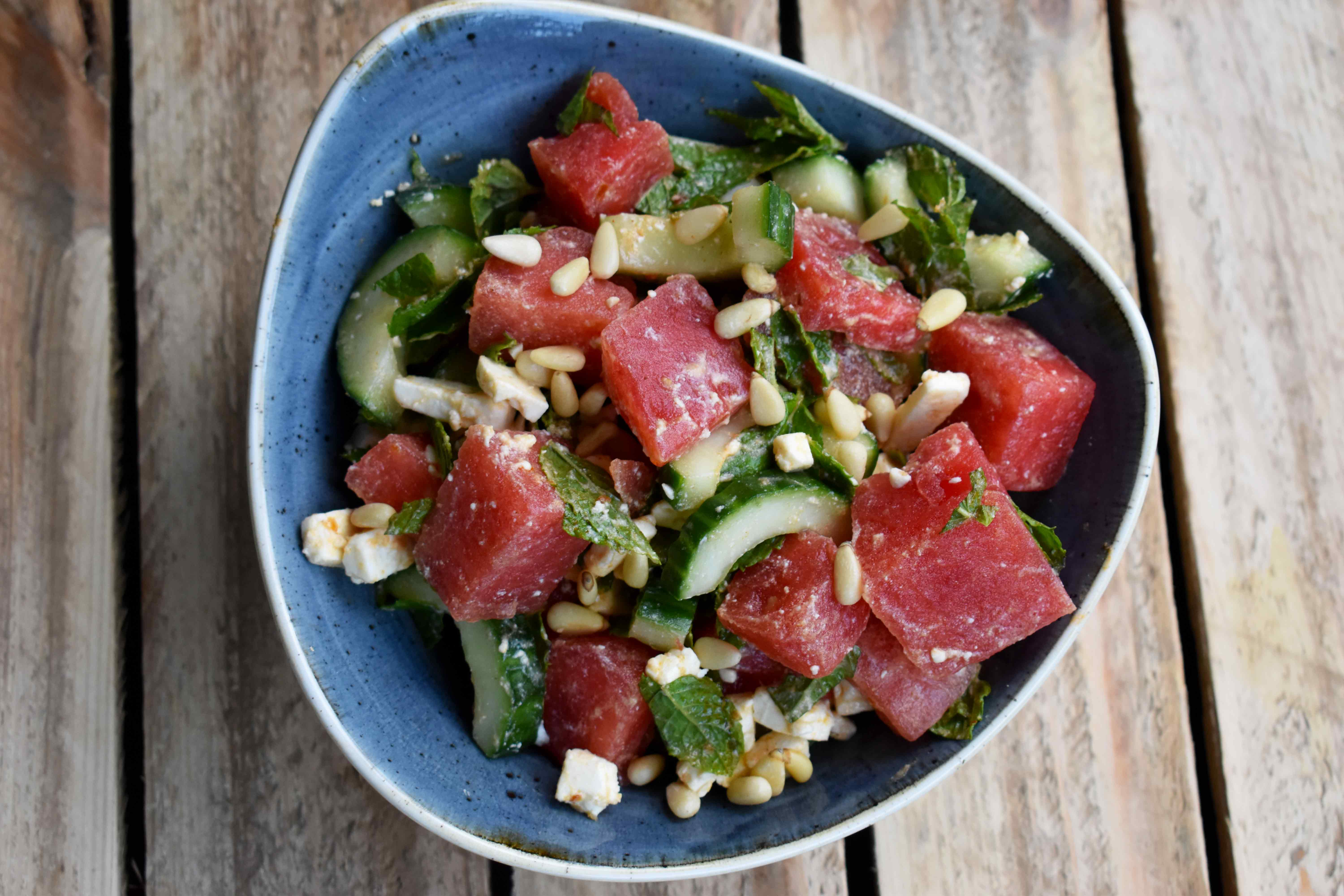 Cool Watermelon-Mint Salad (VGN)