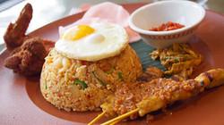 Nasi Goreng Fried Rice and Chicken Satay