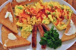 Parsi Spiced Scrambled Eggs