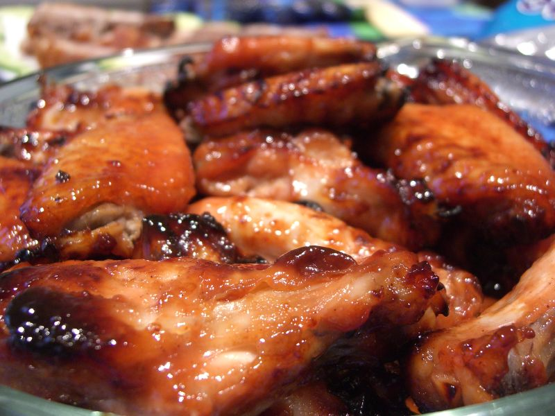 Roasted Wings in Sweet Chinese BBQ Sauce
